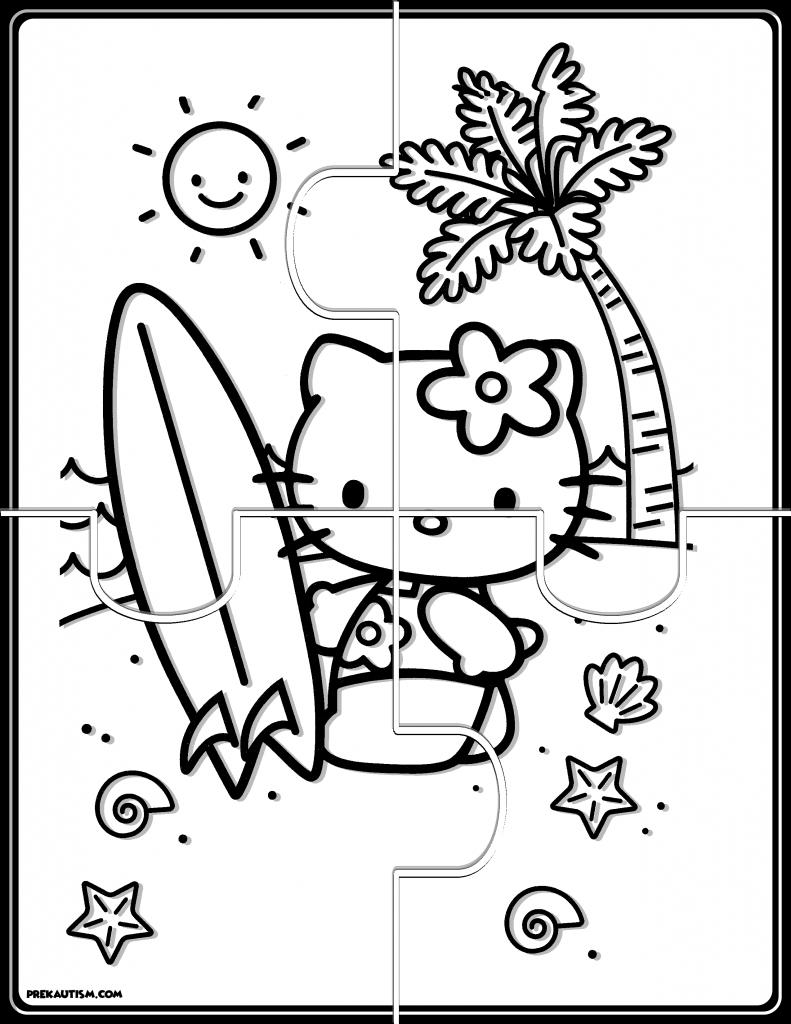 Free Hello Kitty Puzzles Hello Kitty Coloring Hello Kitty Fun Puzzle Games
