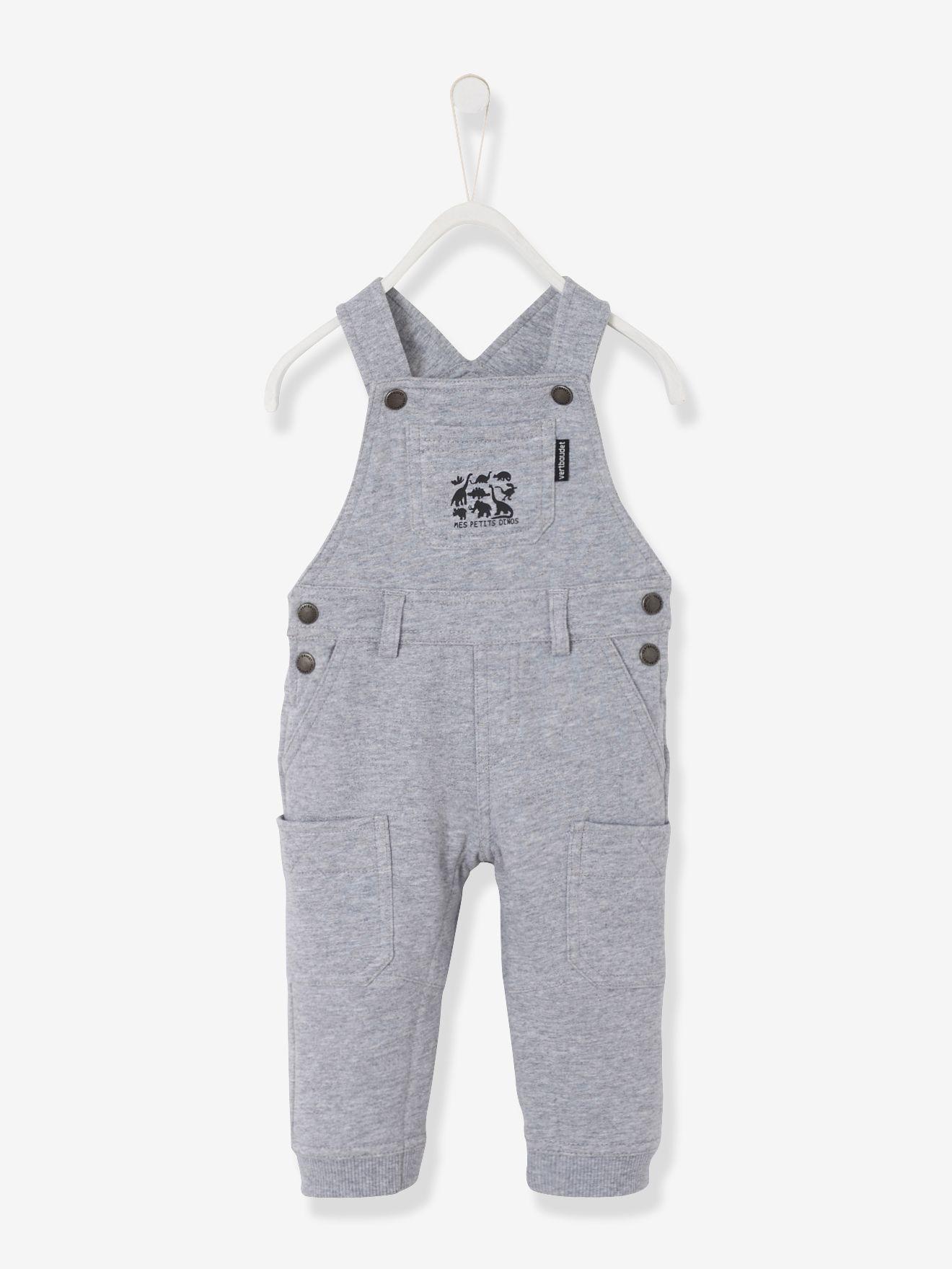 stylistisches Aussehen großartiges Aussehen lässige Schuhe Baby Boys Fleece Dungarees - medium grey marl, Baby ...