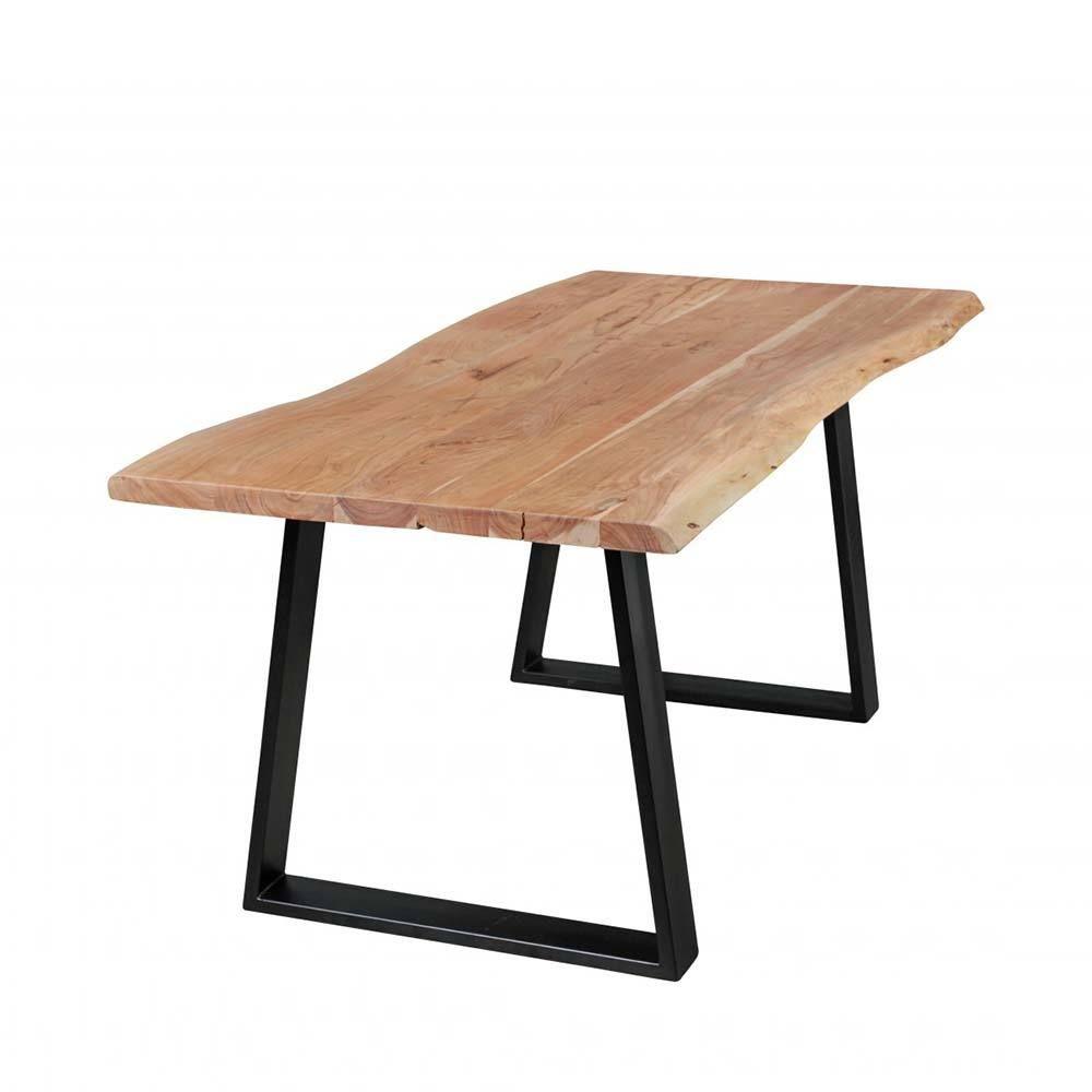 Esszimmertisch mit Baumkante Metall Schwarz Jetzt bestellen unter ...