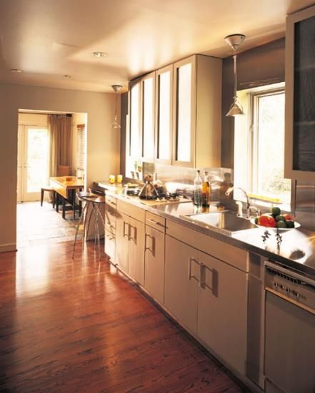 Kitchen Cabinet Choices  Galley Style Kitchen Contemporary Style Impressive Contemporary Style Kitchen Cabinets Inspiration
