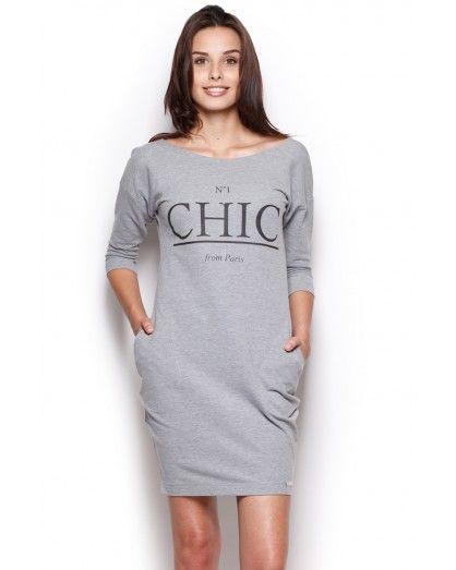 556ce39f6 Šedé šaty M312 | šaty | Šaty, Dlouhé šaty, Tepláky