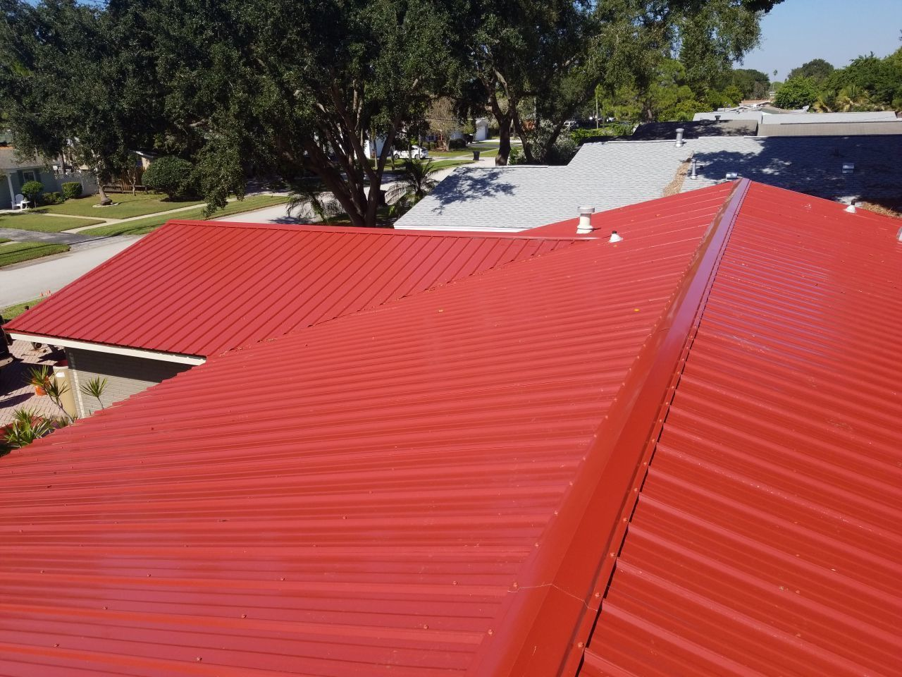 Metal Roof Red Affordable Roofing Metal Roof Roofing Systems