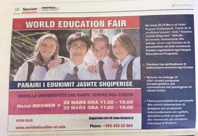 foto sot ne gazeten shqiptarjacom edicioni special per arsimin do te gjeni