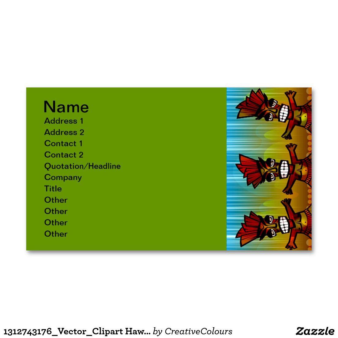 1312743176_Vector_Clipart Hawaiian Tiki men Business Card   ART ...