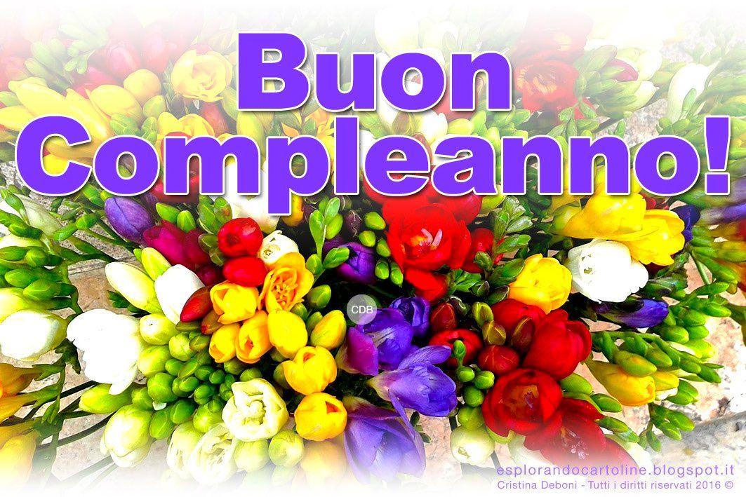 Cartolina Buon Compleanno Con Bella Immagine