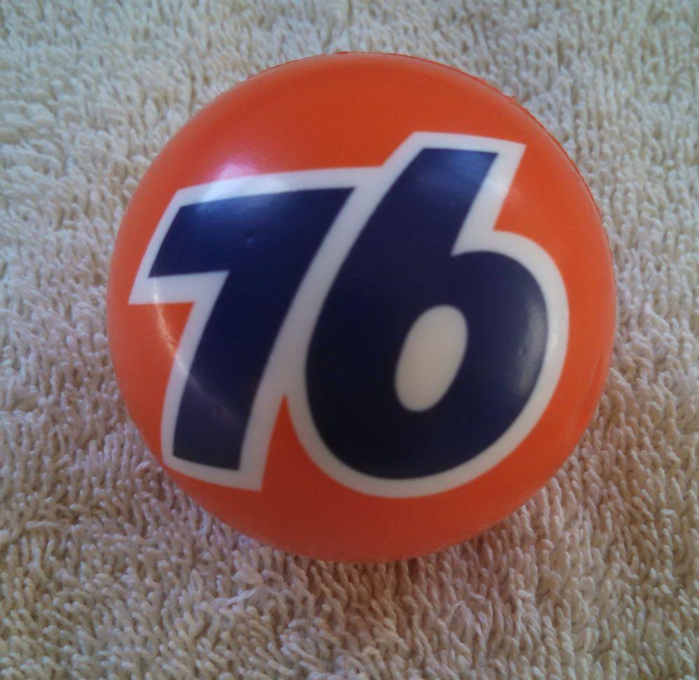 Vintage Union 76 Baseball Foam Antenna Topper Gas Oil Advertising