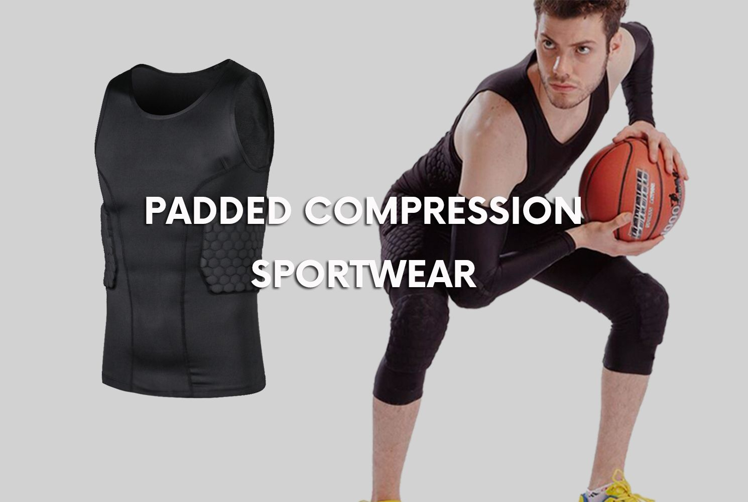 Men Integrated Football Shirt Offers Added Protection Without Taking Away Your Mobility 6 Pad Pr Padded Compression Shirt Padded Compression Sleeveless Tshirt