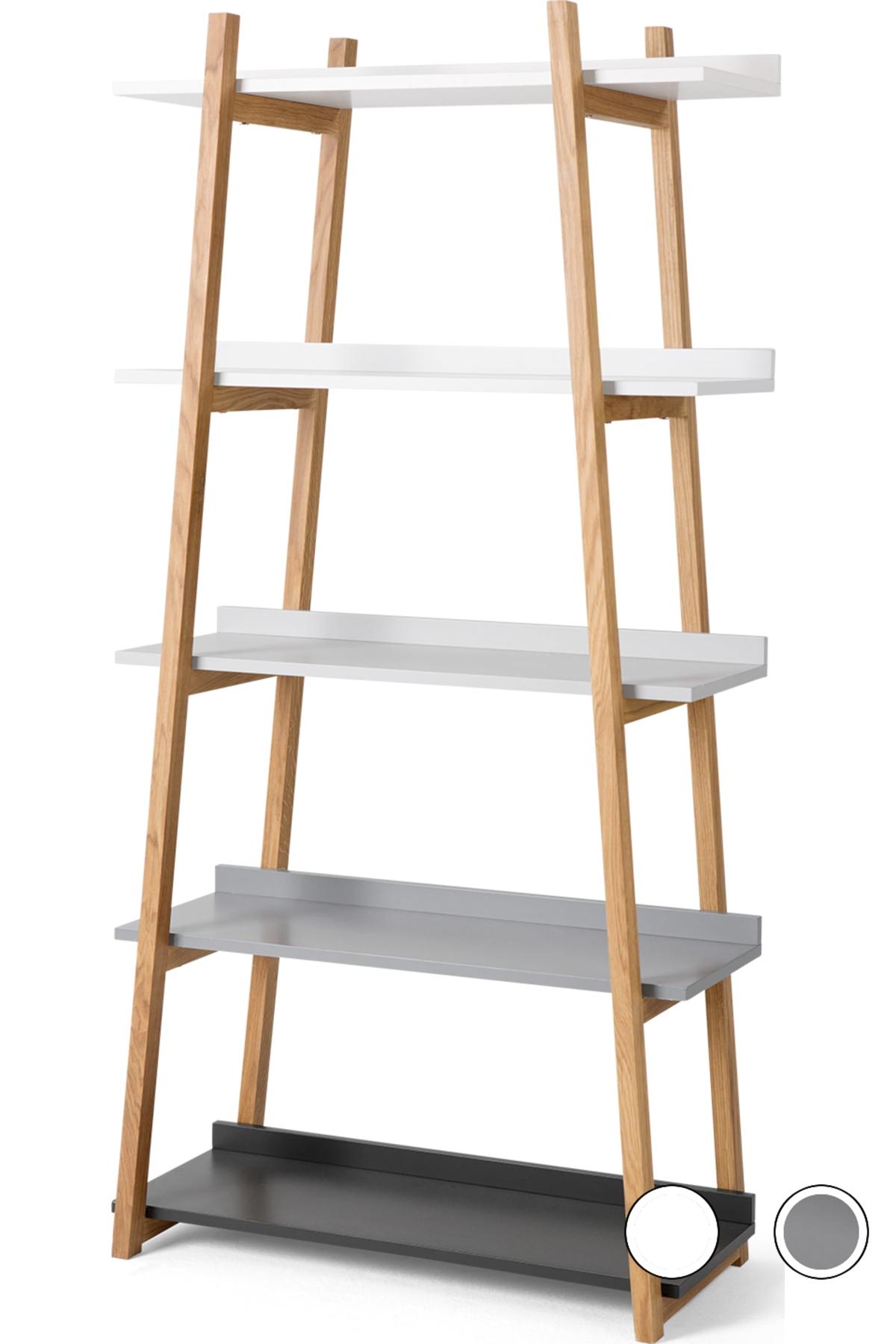 Made Multi Colour Grey Shelving Unit Shelves Bookcase Shelves