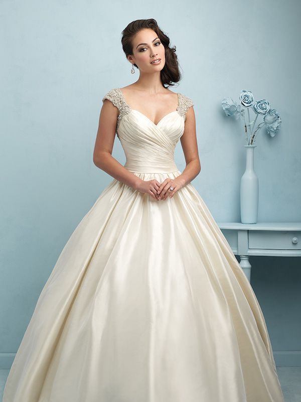 Allure Bridals\' style 9204 taffeta gown is the definition of ...