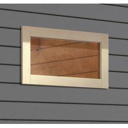 Photo of Karibu Gartenhaus-Fenster (Elfenbeinweiß, Kunstglas, 85 x 44 cm, Geeignet für: 38 mm Wandstärke) Kar