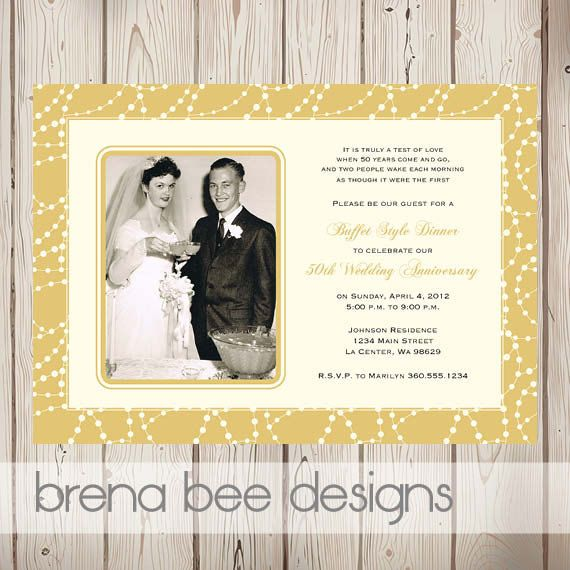 50th Wedding Anniversary Invitation Ideas: Personalized 50th Wedding Anniversary Invitation