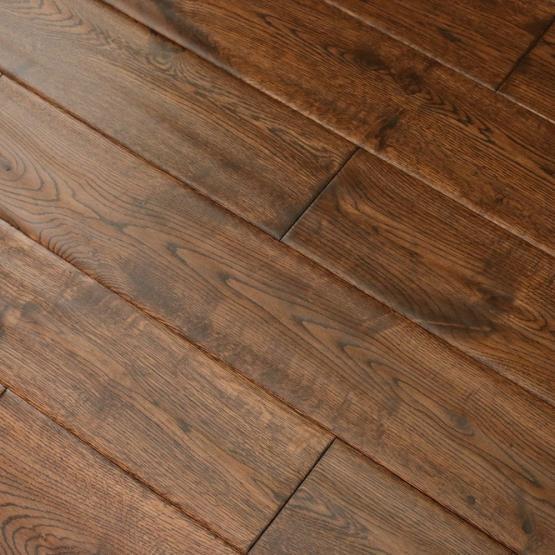 Hand Scraped Engineered Hardwood Flooring hand scraped Oak Gunstock Dark 58 X 5 Hand Scraped Engineered Hardwood Flooring