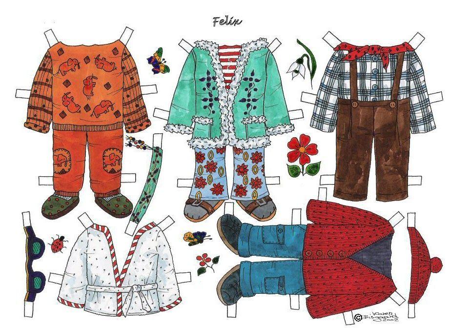 FELIX in Colour from Karen's Paper Dolls 2 of 3