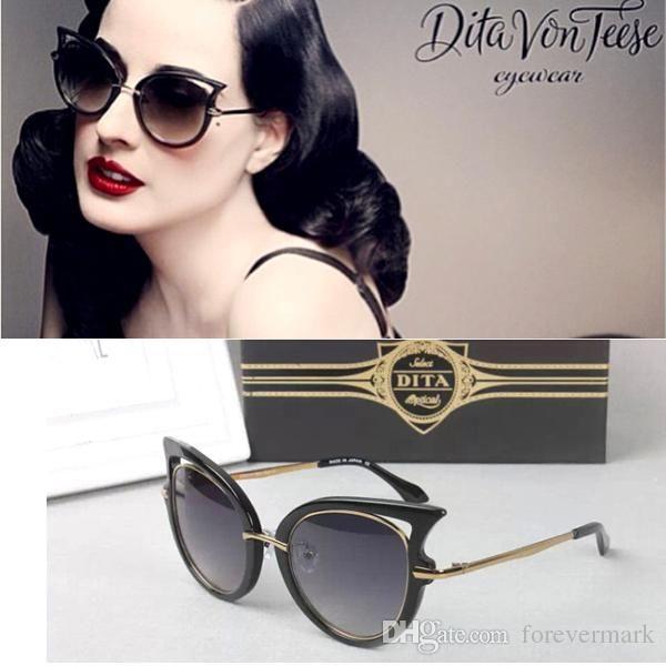 New 2015 Dita Sunglasses Oculos De Sol Feminino Dita Von Teese Sunglasses  Women Brand Designer Cat