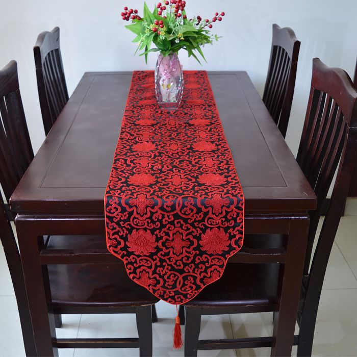 Click To Buy  Elegant Printed Happy Table Runner Tassel Dining Prepossessing Dining Room Tablecloths Review