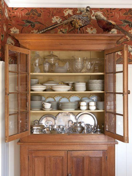 too many china cabinets | China Dishes Display In China Cabinet