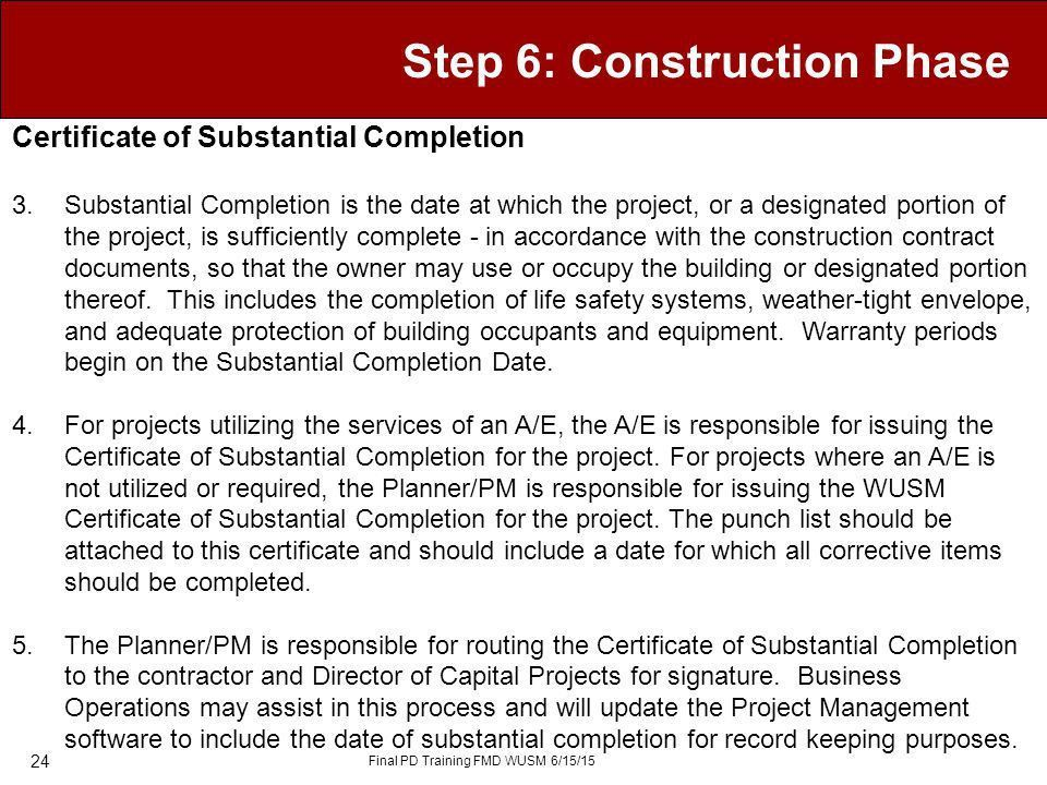Image result for substantial completion ARE test prep Pinterest - certificate of construction completion