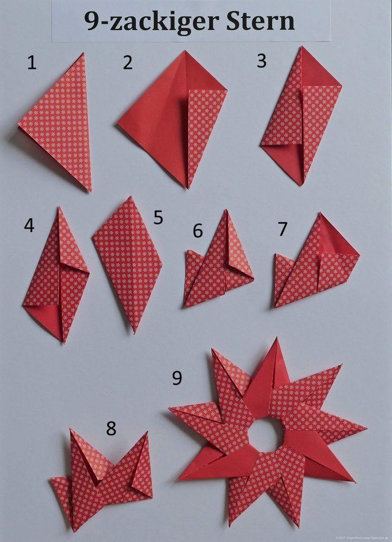 Sonne Oder 9 Zackiger Stern PapierZen Avec Origami Sterne Falten Anleitung Et C Birgit Ebbert Zahl 6 Sur La