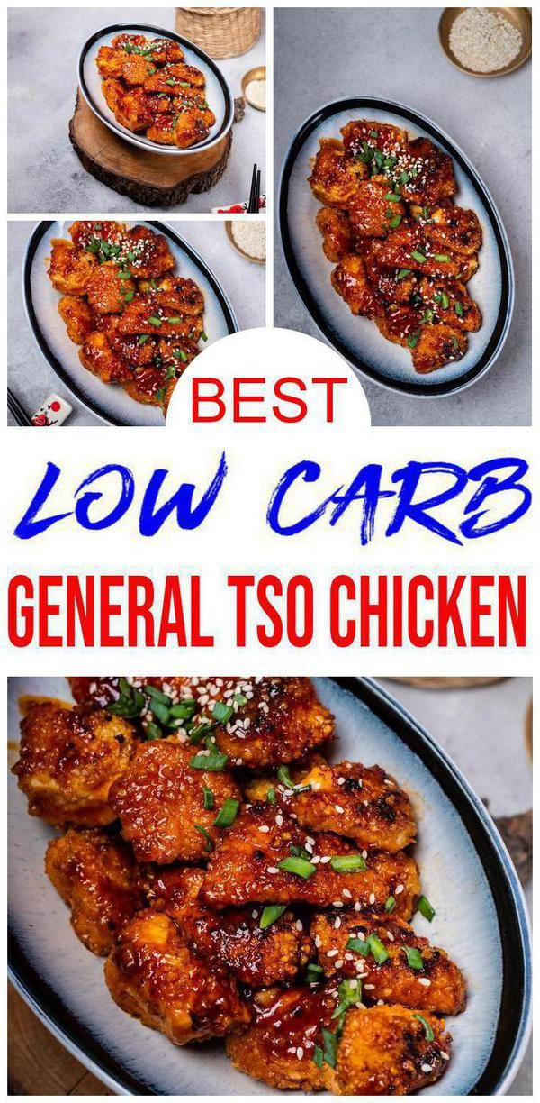 Low Carb General Tso Chicken - BEST Chinese Food Recipe