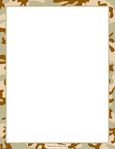 printable camouflage stationery and writing paper free pdf