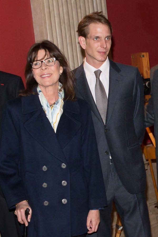 """Princess Carolina y  Andrea Casiraghi asistió al estreno de la película """"alberto I"""" en el cine"""