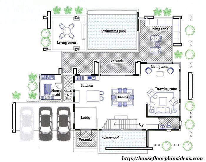 Perfect Floor Plan Ag516 First Floor Plan Modern Tropical House Modern House Plans House Plans