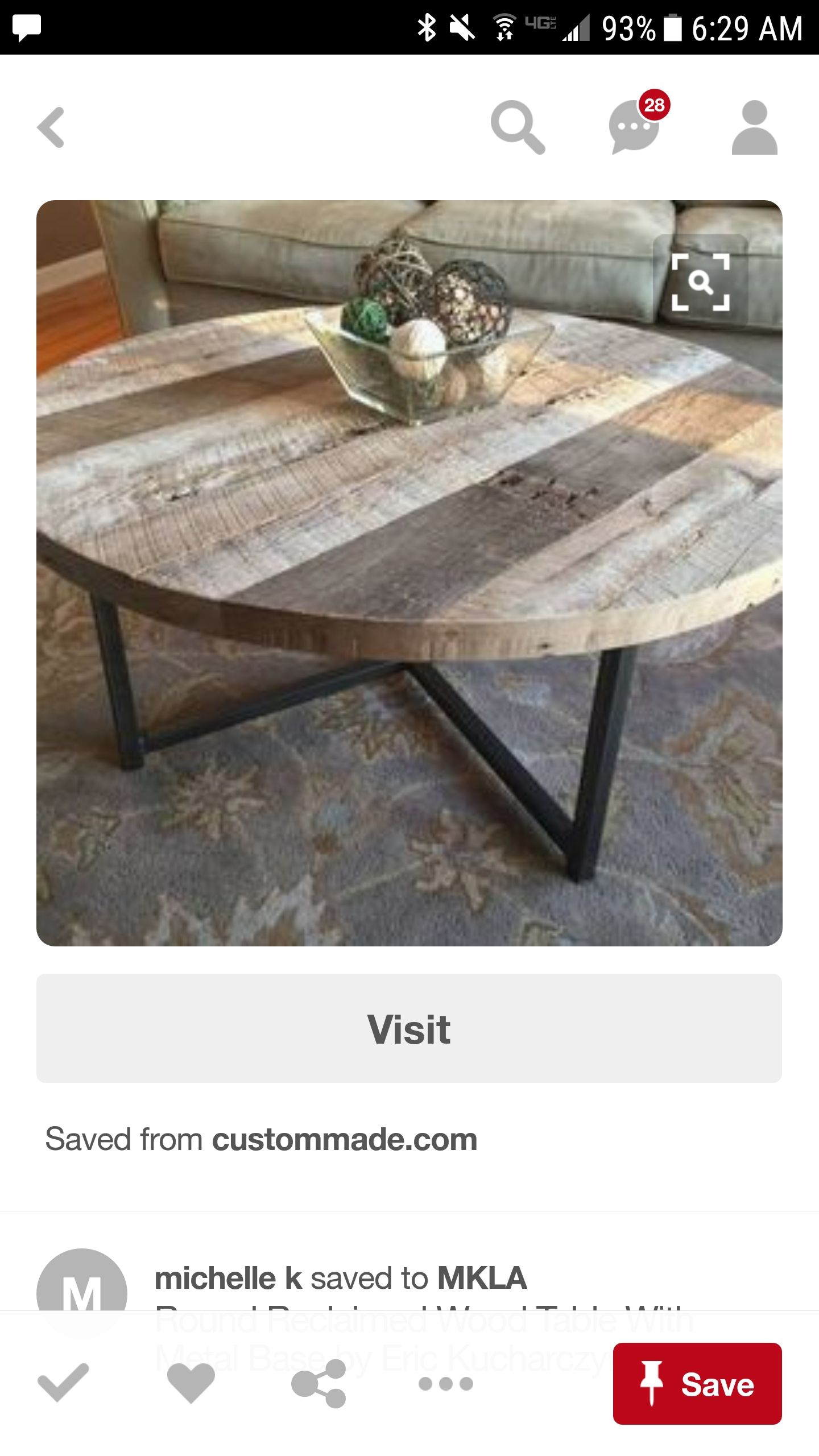 Pin By Nadine Borghol On Misc Coffee Table Farmhouse Coffee Table Wood Round Wood Table [ 2560 x 1440 Pixel ]