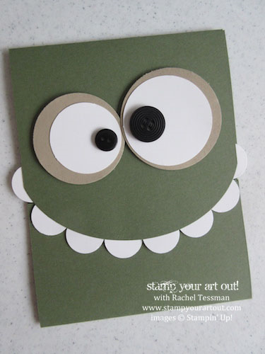 Monster Card Easy Diy Birthday Cards Son Ideas For