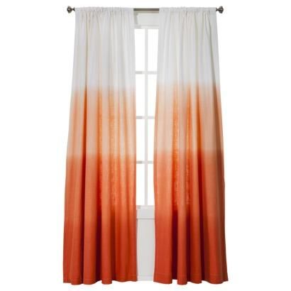 Orange Ombre Curtains Window Treatments Threshold Ombre Stripe