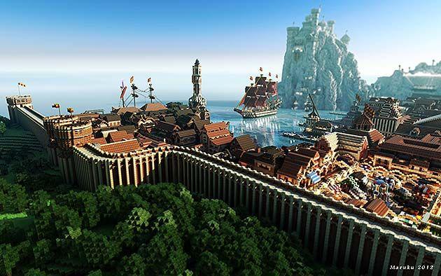 Juego De Tronos Castillos Y Ciudades Minecraft City Minecraft Shaders Minecraft Pictures