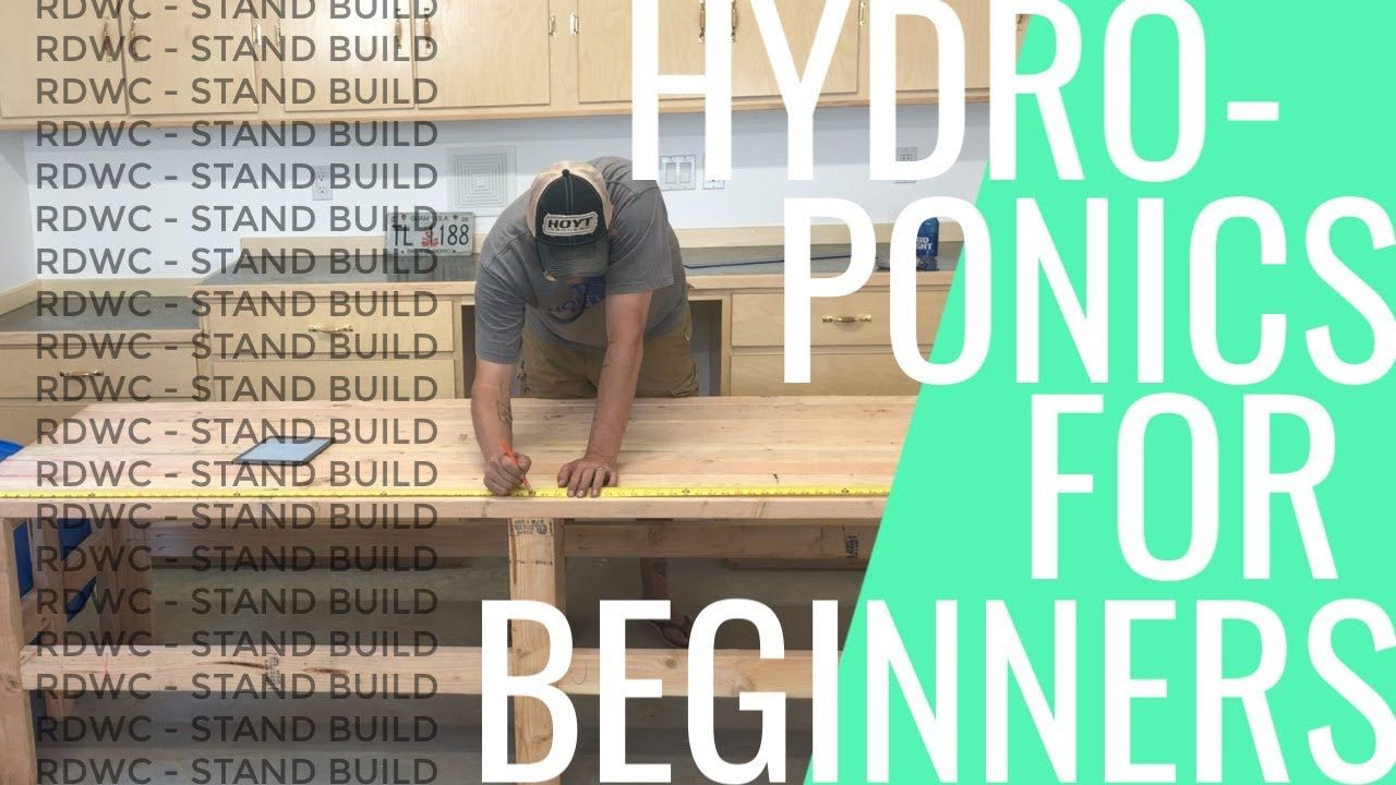 DYI Hydroponics for Beginners RDWC Hydroponic Stand