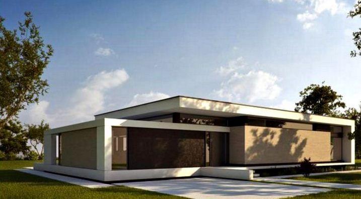 Fachadas de casas de una planta minimalistas flip ideas - Casas de una planta ...