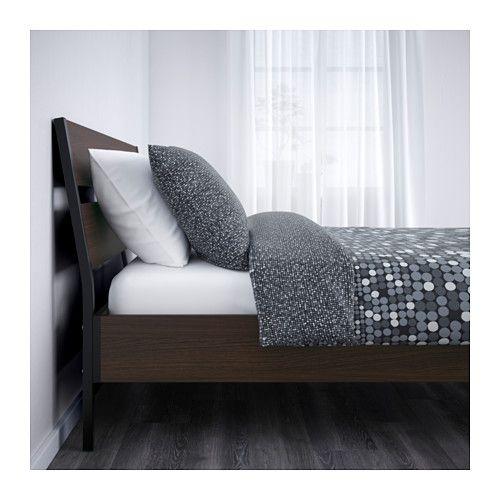 Trysil Bed Frame Dark Brown Luroy Queen Mattress Length 79 1