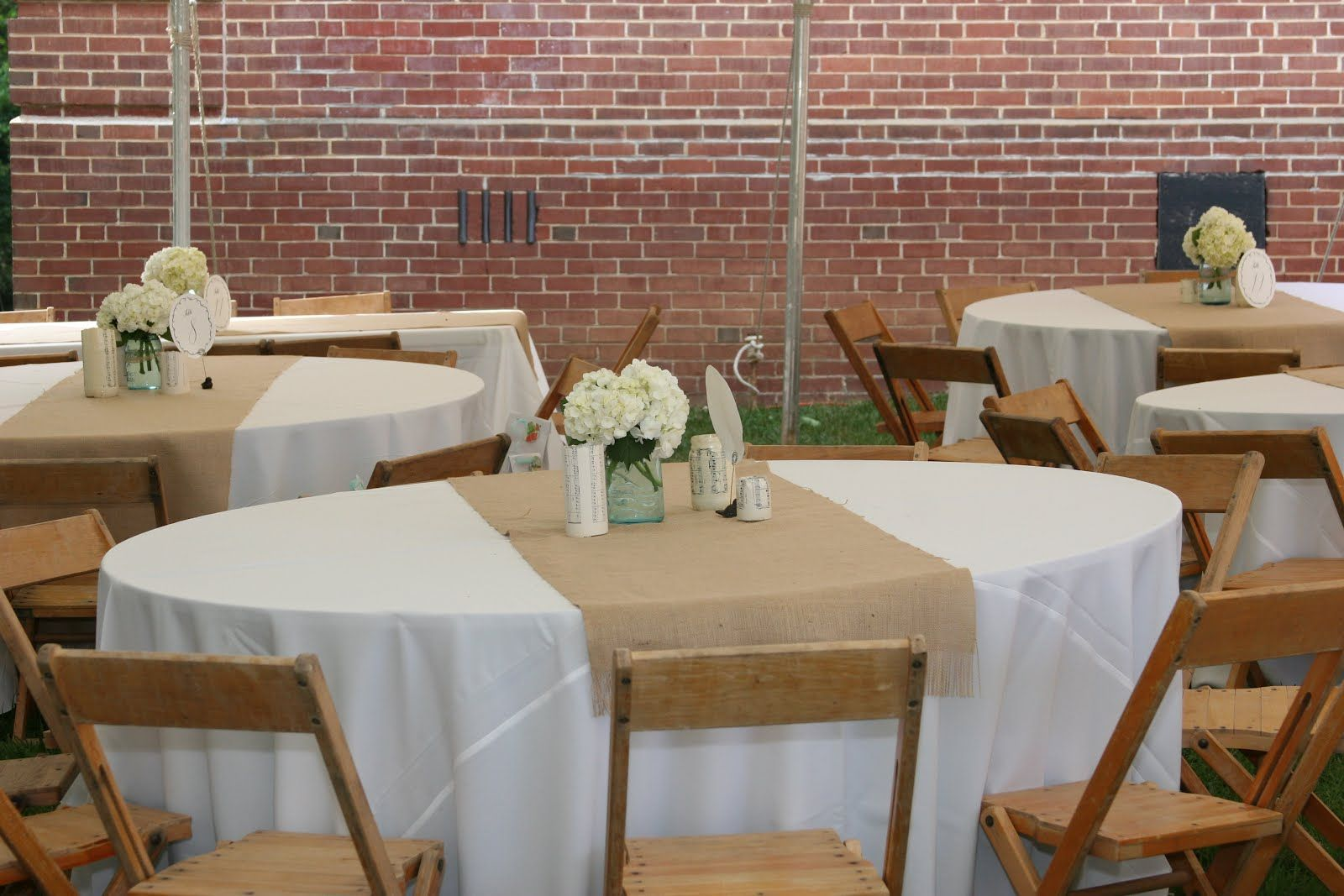 Burlap Runner On Round Table | Becoming the Pierson\'s: DIY: Burlap ...