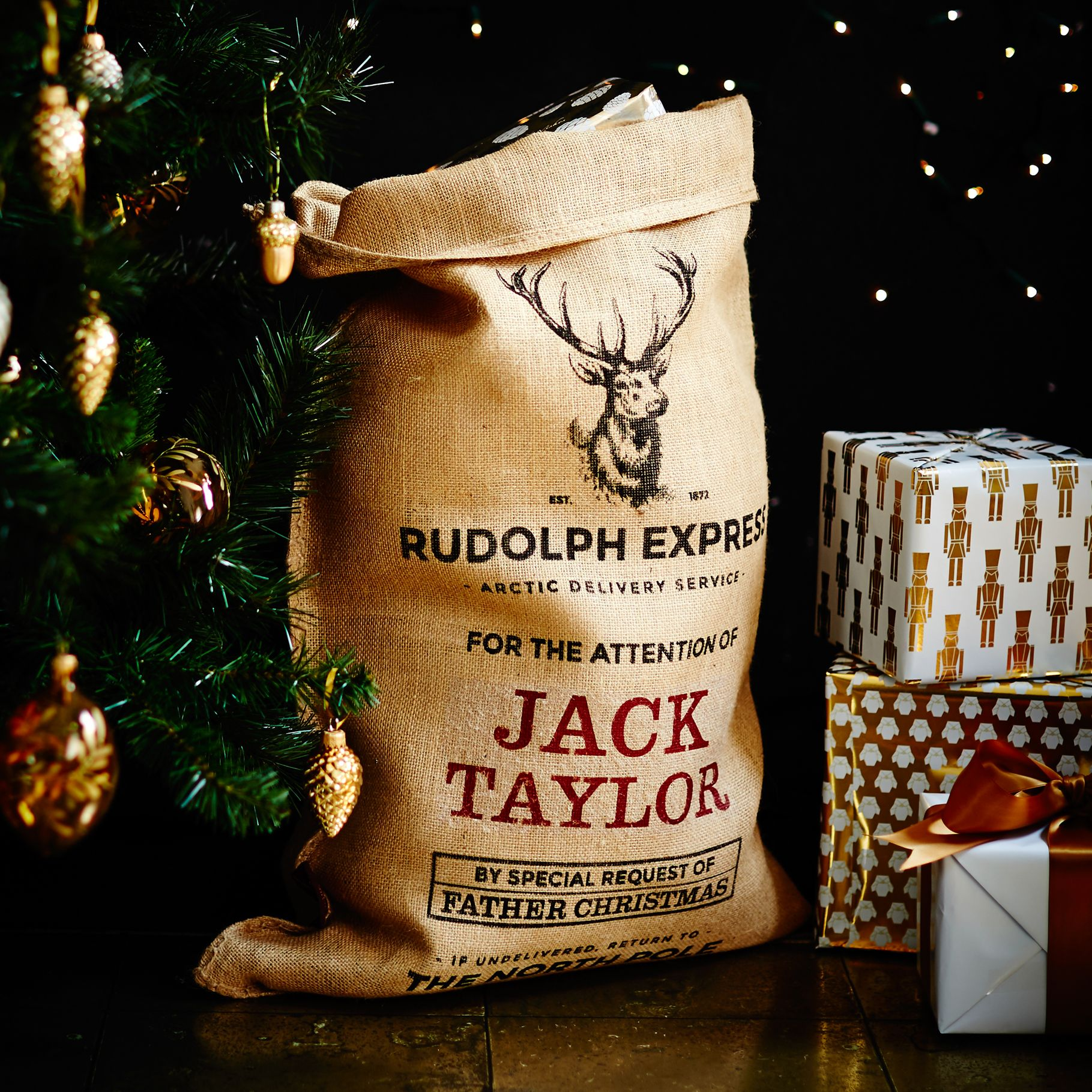The Marlowe Personalised Christmas Santa Toy Sack | Christmas ...