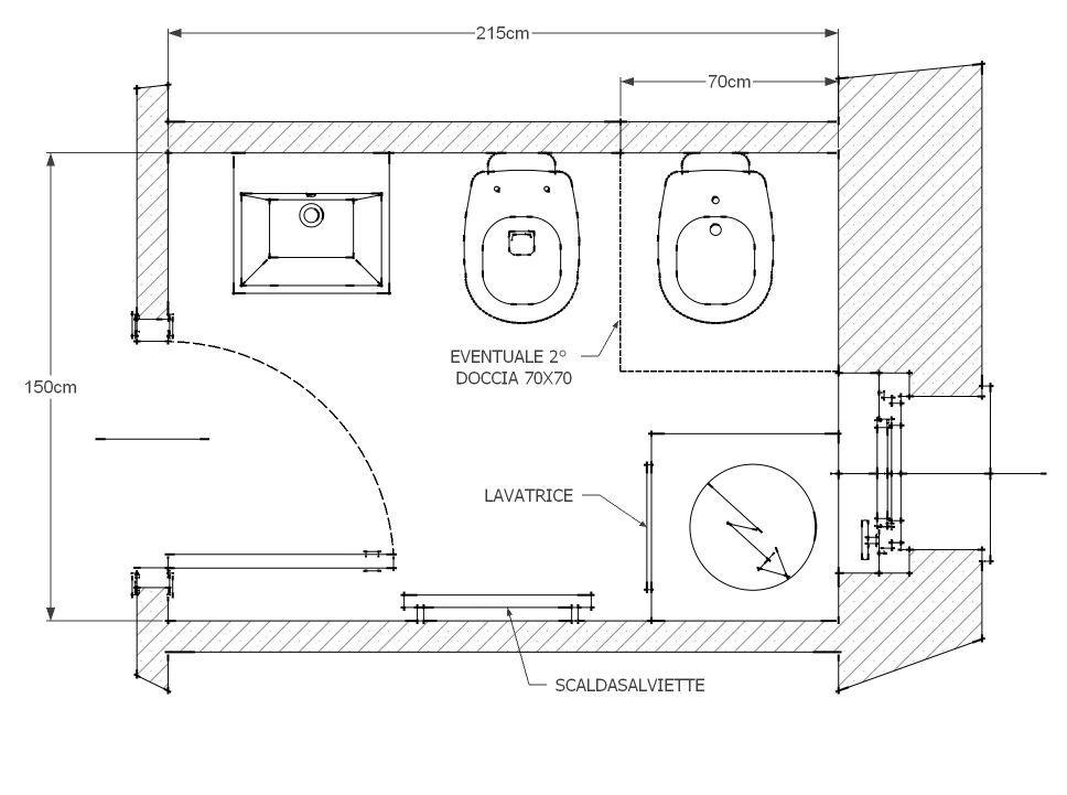 Risultati Immagini Per Progetto Bagno Piccolo Con Lavatrice Ergonomia