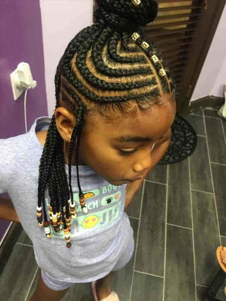 Braided Hairstyles For African American Kids Easy Hair Braids For Children In 2019 Kids Braided Hairstyles Kid Braid Styles Natural Hairstyles For Kids