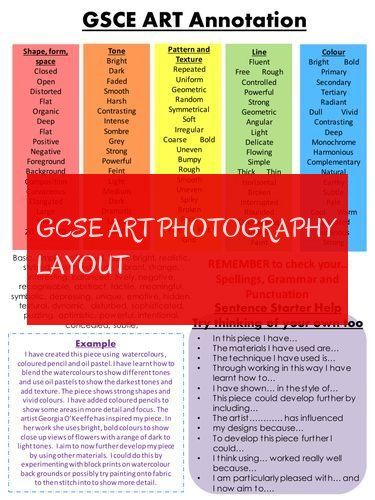 Gcse Art Photography Layout Gcse Art Photography Layout