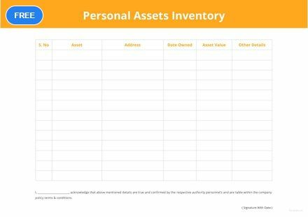 Free Personal Asset Inventory Inventory Templates Designs 2019