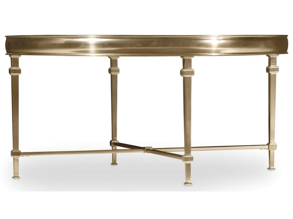 Gold Colored Metal And Glass Tops Make The Highland Park Tables - Glass tops for bedroom furniture