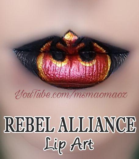 Rebel Alliance Lip Art!