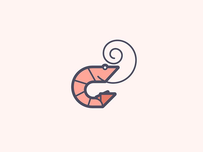 shrimp logos icons and pictogram rh pinterest com Shrimp Design Shrimp Clip Art