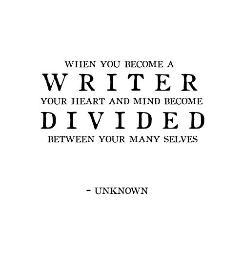 the divided self essay In general, i don't think of the self in these essays as all that personal, not in the act of composition, anyway, and when i'm writing about myself, or drawing from experience, i don't feel.