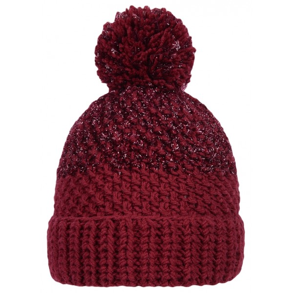 Occulto leather patch winter beanie hat.