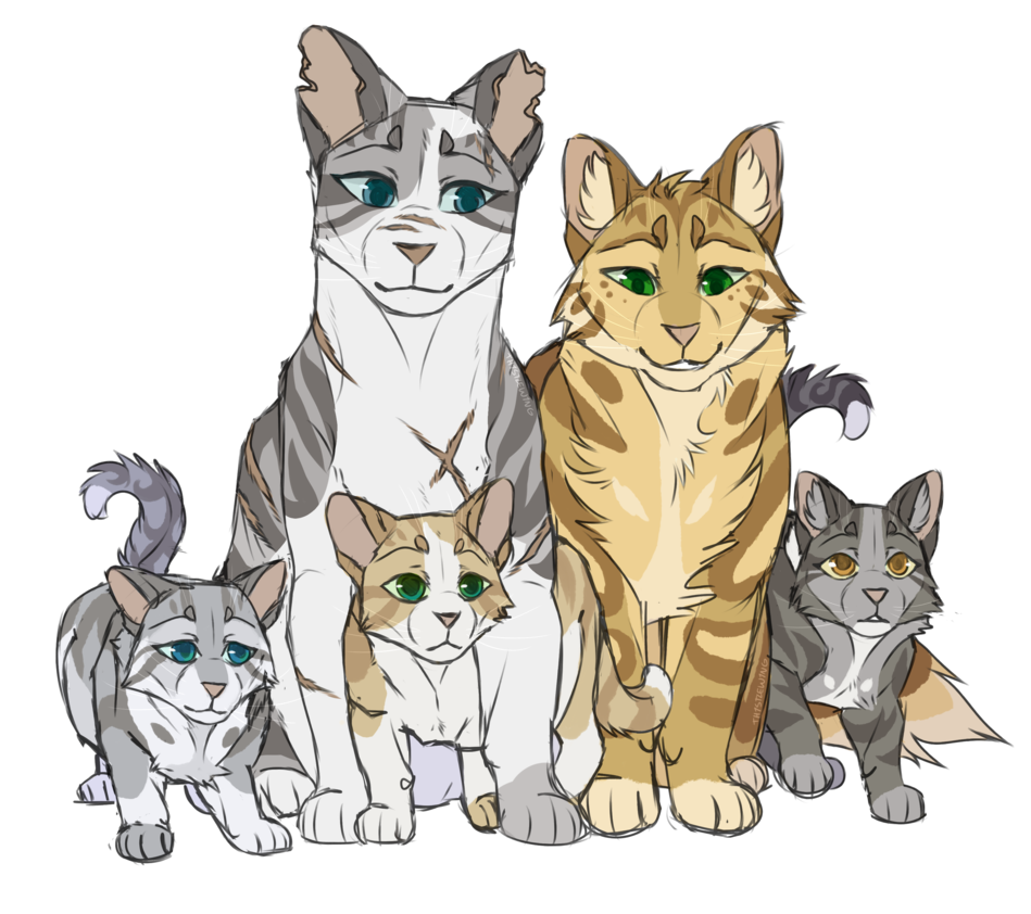 Ivypool And Kits by th1stlew1ng Warrior cats books