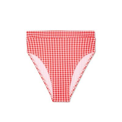 430da981d70b4 Women's Gingham High Waist Bikini Bottom - Xhilaration Red Gingham XL,  Calypso Red