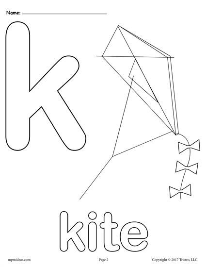 Letter K Alphabet Coloring Pages 3 Printable Versions Alphabet