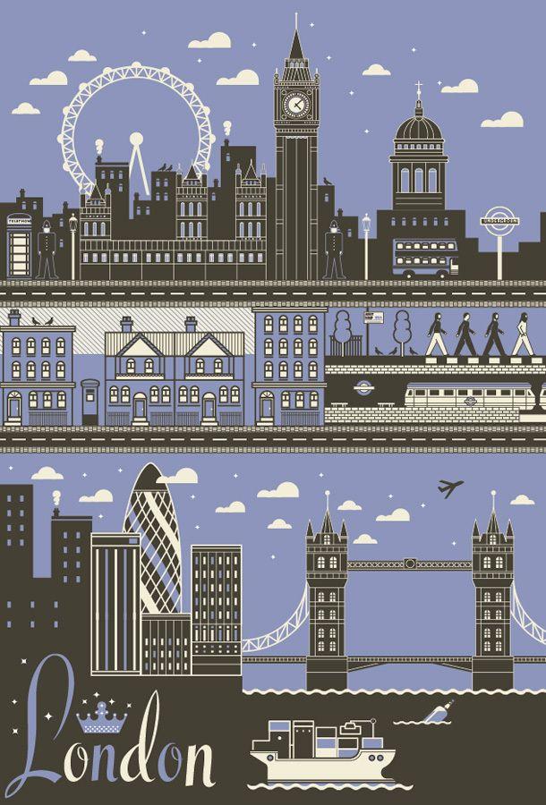 I Love Dust City Poster Set London City Travel
