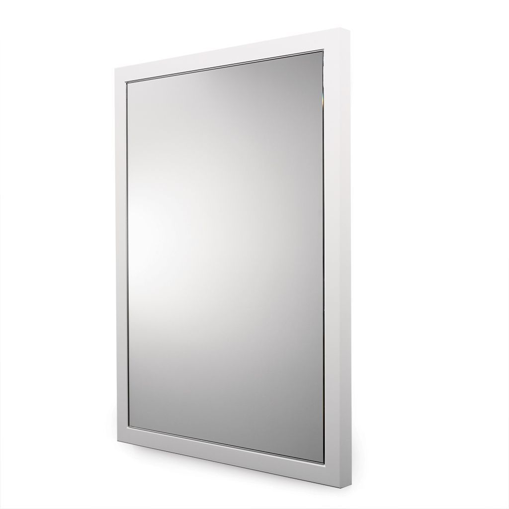 Opus Wood Wall Mounted Stationary Mirror 26 15 16 X 36 1 16