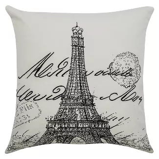Do Good Pillow Target Throw Pillows Rizzy Home Eiffel Tower Print